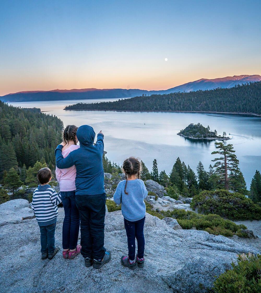 Vikingsholm trail in Lake Tahoe