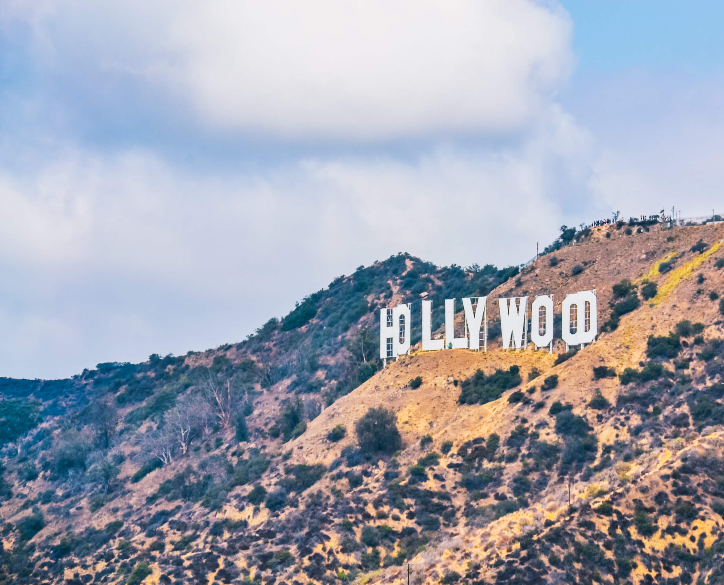 Hike to Hollywood sign in Griffith Park
